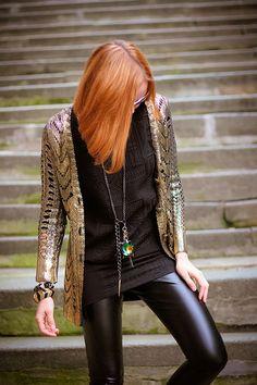 Loooove- Golden Knight (of Cydonia) by GvodisShe Street Style 2014, Street Chic, Fashion Beauty, Womens Fashion, Business Dresses, Party Fashion, Dress Me Up, Autumn Winter Fashion, Dress To Impress