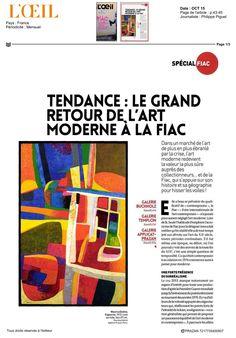 L'Oeil octobre 2015 #Loeil #MauriceEsteve #FIAC2015 #FIAC