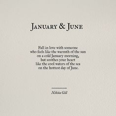 What's perfect about this is that January is his birthday month, and June is mine. ❤️