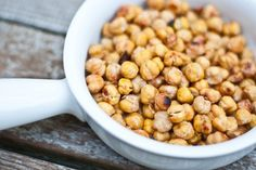 Salt and vinegar chickpeas (I used to make roasted chickpeas all the time with chili powder - this sounds like a fun alternative)