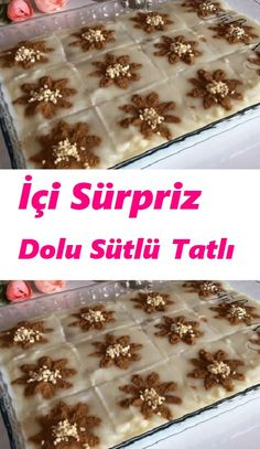 Milky Dessert Recipe Filled with Surprise, Dessert recipes Easy Cake Recipes, Sweet Recipes, Dessert Recipes, Desserts, Milk Dessert, Turkish Kitchen, Dinner Recipes, Food And Drink, Pudding