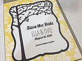 A beautiful die for a save the date card.
