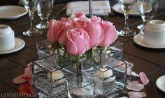 pink roses  www.lavishdesigngroup.com
