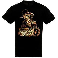 Skeleton banker fekete póló Skeleton, Polo, Halloween, Mens Tops, T Shirt, Fashion, Supreme T Shirt, Moda, Tee Shirt