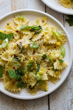 NYT Cooking: There's no cream in this wonderfully summery pasta dish, just a luscious sauce made from puréed fresh corn and sweet sautéed scallions, along with Parmesan for depth and red chile flakes for a contrasting bite. Be sure to add the lemon juice and fresh herbs at the end