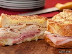 """Mr.FOOD MONTE CRISTO RECIPE (SPECIAL): ~ From: """"Mr.Food.Com"""". ~ Recipe Courtesy Of: """"MR.FOOD TEST KITCHENS"""". ~ Cook Time: 20 min; Ready In: 20 min; Yield: (8 servings). ***In honor of Mr. Food and his love of traditions, we combined his love of breaking bread with family and his favorite way to use Challah bread which was to make a grilled Monte Cristo sandwich. loved hearing him say so much... """"OOH, IT'S SO GOOD!!"""""""