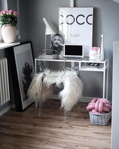 Home office, decor, Nordic decor