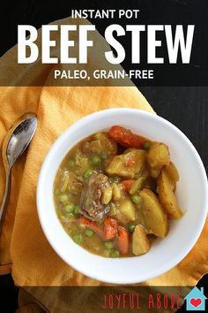 Instant Pot Beef Stew Recipe (Paleo, Grain-Free)