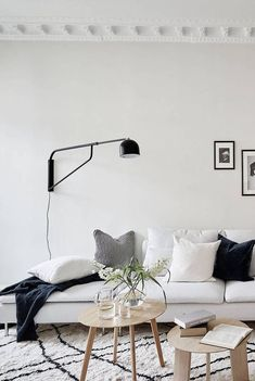 IKEA sofa and monochrome styling