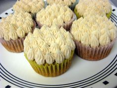 banana cupcakes with honey cinnamon buttercream