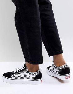 Vans Old Skool Sneakers In Mixed Checkerboard
