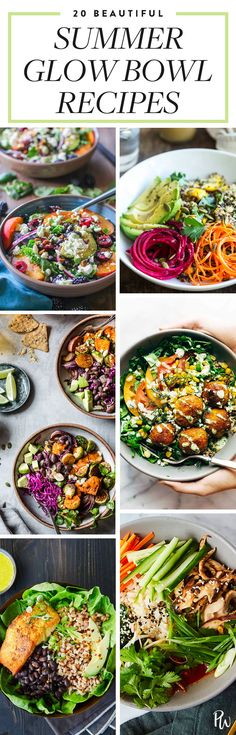 Summer Glow Bowls Are Trending, and Here Are 20 Recipes We Love #purewow #recipe #salad #summer #dinner #food #easy #cooking #glowbowls #veggiebowls #healthybowls #healthyrecipes #healthydinners #healthylunches #vegetariandinners #vegetarianrecipes