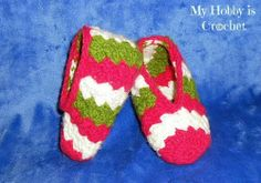 Toddler slippers Sparkling Holidays - Free crochet pattern: written instructions and chat