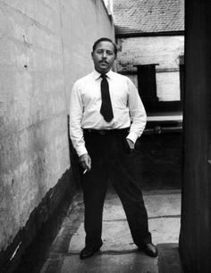 The name of a person you love is more than language. Tennessee Williams, uncredited photo.