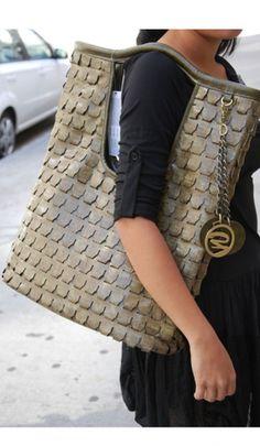 Croco Handbags and it folds to a clutch