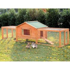 PawHut 122 Large Wooden Rabbit Hutch Chicken Coop House Habitat with Ramp Run - Rabbit - - PawHut 122 Large Wooden Rabbit Hutch Chicken Coop House Habitat with Ramp Run Price : Portable Chicken Coop, Chicken Coop Plans, Building A Chicken Coop, Chicken Coops, Chicken Houses, Rabbit Hutch Plans, Rabbit Hutches, Large Rabbit Hutch, Rabbit Playpen