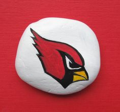 Arizona Cardinals, Sports Fan Memorabilia, Football Fan,Paperweight, NFL Gift,Hand Painted Rock, AZ Cardinals, Football Logo Art, NFL Logo by JeannesJungle on Etsy
