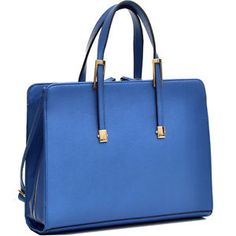 Women High Quality PU Leather Briefcase Laptop Bag Business Bag with Gold Tone $39.99