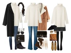 """""""Inspired with a long white turtleneck"""" by nikka-phillips ❤ liked on Polyvore featuring 3.1 Phillip Lim, Marc by Marc Jacobs, Tory Burch, Chloé, Yves Saint Laurent, Frame Denim, Forever 21, H&M, Ray-Ban and Wolford"""
