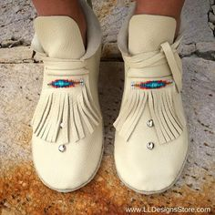 Looking For Good Shoes? Moccasin Boots, Shoe Boots, Buy Shoes, Me Too Shoes, Native American Dress, Beaded Moccasins, Comfortable Boots, Fringe Boots, How To Make Shoes