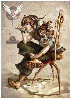 Roezlan_Capa_by_CoFeRoSa in Showcase Of Incredible Steampunk Artworks
