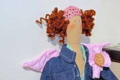 Miss botton candy Tilda jeans doll