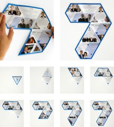 Un buen folleto plegable triangular que coincida con el logo TVNZ 7 cuando se desarrolló y es también similar a la forma en que se anima a los idents televisión.