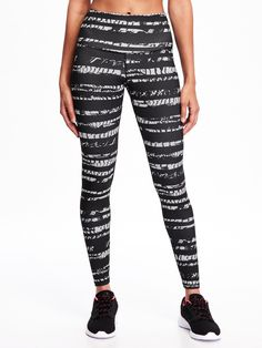 Go-Dry High-Rise Printed Compression Leggings - Old Navy - $36.94