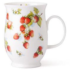 Dunoon - Suffolk Wildberries Strawberry Mug Strawberry Patch, Strawberry Shortcake, Strawberry Pictures, Strawberry Kitchen, Red And White Kitchen, Strawberry Decorations, Strawberry Fields Forever, Wild Strawberries, Vintage Cups