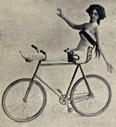 Vintage bike riding