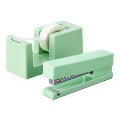 Mint Poppin Tape Dispenser & Stapler