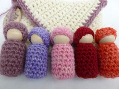 Dolls in a pocket set by greenmountain on Etsy, $25.00