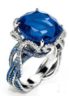 Sapphire jewellery like a cool sea breeze, like water moving luster translucent crystal, like pure love.