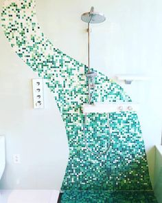 Have you been looking for a new creative solution? Bathroom Trends, Local Real Estate, Some Ideas, Shower Heads, Bathroom Inspiration, Kitchen And Bath, Mosaic, Photo And Video, Stylish