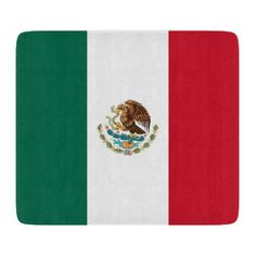 Small glass cutting board with flag of Mexico - kitchen gifts diy ideas decor special unique individual customized