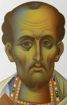 Frescele lui Alexandru Soldatov (Partea a Byzantine Art, Byzantine Icons, Greek Icons, John Chrysostom, Paint Icon, Painting Studio, Orthodox Icons, Sacred Art, Drawing Techniques