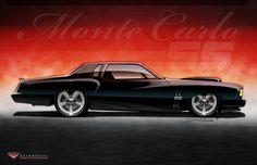 Custom 1973 Chevy Monte Carlo SS.