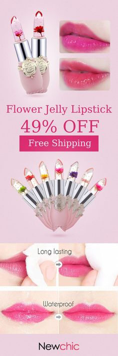 [Newchic Online Shopping] 49%OFF Magical Flower Jelly Lipsticks - Change Color According to the temperature