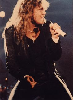 "Hair bands! Europe's ""The Final Countdown,"" singer 'Joey Tempest' (Joakim Larsson)."