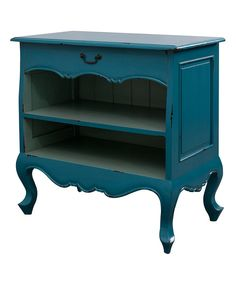 Look at this Blue Cabriole Bookcase on #zulily today!