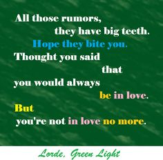 lorde, green light