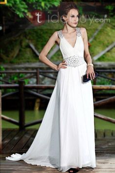 Glamorous A-Line V-Neck Appliques Floor-Length Prom/Evening Dresses hot,cozy ,modern ,Appropriateness,Colorful ,
