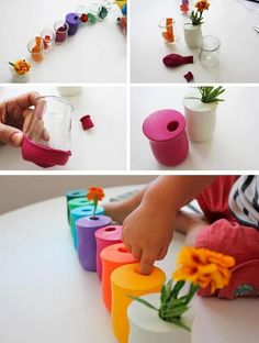 Discover thousands of images about DIY Balloon Vases: A plastic or glass bottle and a balloon . very creative recycling! Kids Crafts, Diy And Crafts, Arts And Crafts, Diys, Ideias Diy, Deco Floral, Diy For Kids, Diy Gifts, Recycling