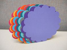Extra Large Die Cut Scalloped Circle Cards by MyThreeSonsByKristin, $4.00