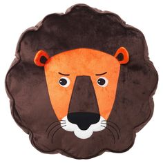 IKEA DJUNGELSKOG Cushion Lion/brown The cushion is made of polyester ‒ a lightweight and durable material that withstands tough jungle adventures. Cushions Ikea, Decorative Cushions, Pillows, Le Dodo, Orang Utan, Childrens Cushions, Ikea Family, Cosy Corner, Textiles