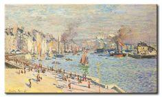 MU_MN2028 _ t_Monet _ Port of le Havre / Cuadro Arte Famoso, Puerto de El Havre