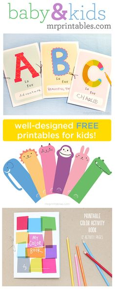 mrprintables... cute free kids printable activities, party ideas, party invites & educational stuff
