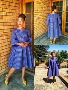 Stunning Shweshwe Dresses for African woman Seshweshwe Dresses, African Fashion Ankara, Latest African Fashion Dresses, African Dresses For Women, African Print Dresses, African Print Fashion, African Attire, African Women, South African Traditional Dresses