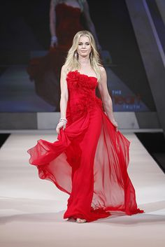 Ladies in Red Dresses Fashion Show