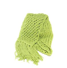 Lime Hand Knit Scarf  Great for Spring by ArlenesBoutique on Etsy, $40.00